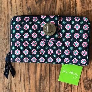 Vera Bradley Turnlock Wallet - Petal Dots